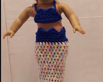 Mermaid Tail for 18 in Doll