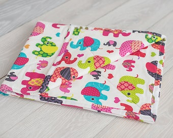 Elephant  Quilt, Baby Quilt, Quilt, Girl Quilt, Baby Quilt, Baby Girl Quilt, Pink Quilt, Baby Girl Shower Gift, Shower Gift, Baby Girl