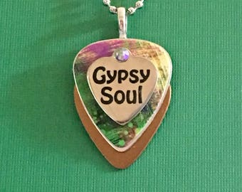 "Guitar Pick Necklace ""Gypsy"""