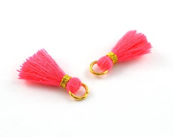Small PomPoms 2 cm set of 2 pink PO92