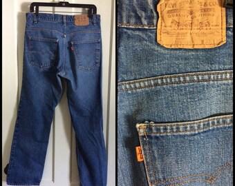 Vintage Denim 509 orange tab Levi's Jeans 33x30 Distressed Boyfriend Grunge