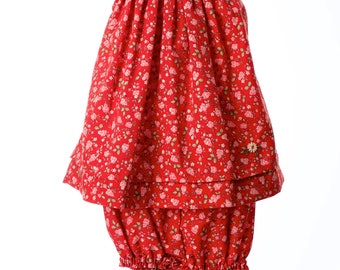 Bishop Cut Dress. Hand-smocked baby girl dress