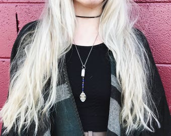 Rosary Bullet Style Necklace