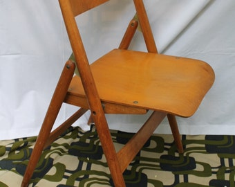 50s Vintage Original Egon Eiermann SE 18 by Wilde & Spieth Folding Chair Version Iconic Design Mid Century Modern Plywood 1950s Modernism n1