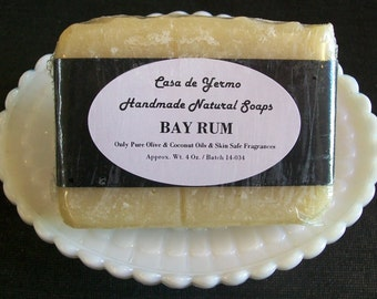 Bay Rum - A light Cologne Scent of Rum. Made with Pure Olive, Palm and Coconut Oils and Safe Fragrance. (Use Coupon Code CDY18)