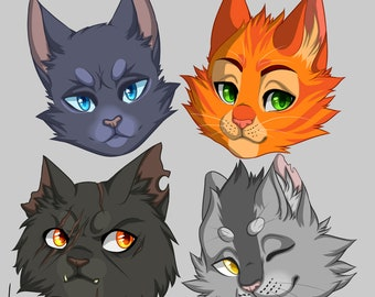 Four Thunderclan {pins or keychain}