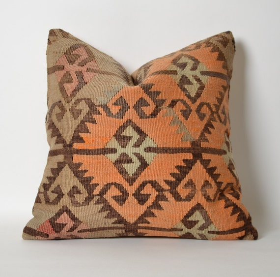 Pastel Kilim Pillow Cover Kilim Pillows Etsy Bohemian Home