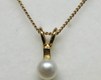 "JEWELRY LIQUIDATION SALE Genuine Diamond Pendant Necklace on 18"" Gold Curb Chain"