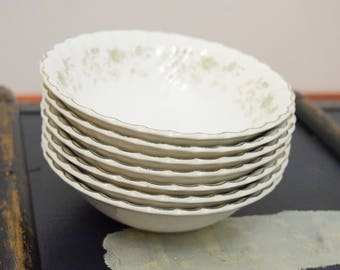 Set of Seven Ironstone Bowls