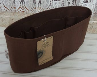 Brown / Purse ORGANIZER Insert SHAPER / Flexible or Stiff Bottom / STURDY / 5 Sizes Available / Check out my shop for more colors & styles
