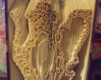 Floral Teapot Cameo Book Folding Pattern