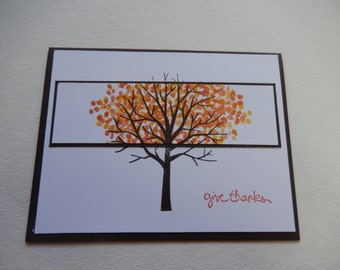 Give Thanks Fall Card