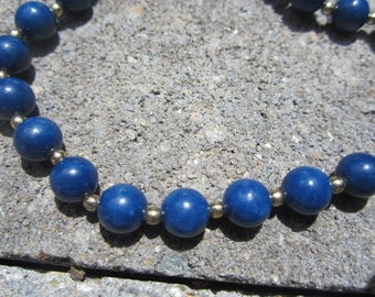 Vintage Genuine Lapis Lazuli Necklace-18 inches FREE SHIPPING (US)