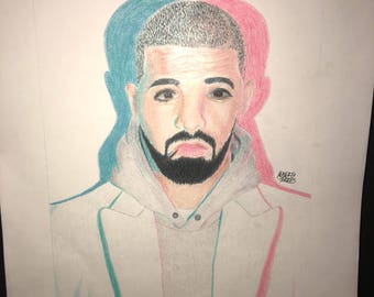Drake 11X14 Colored Pencil Drawing