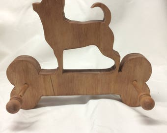 Hand Made Wood Dog Leash Holder-Chihuahua  Can Be Personalized!