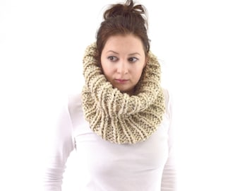 Knit Chunky Cowl Scarf Neck Warmer | The London