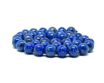 Lapis Lazuli Beads undyed - 6/8/10mm - 10 or 100 Beads