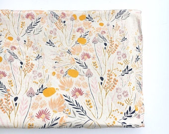 Crib Sheet or Changing Pad Cover- WISPY DAYBREAK- floral crib sheet- floral changing pad- girl baby bedding- girl crib bedding- wildflower