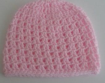 Handmade Crochet Baby Hat - 3 - 6 months