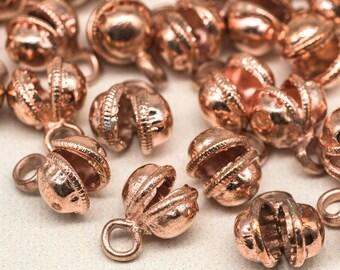 Copper Clam  Bells, 50pcs, Jingle Bells, 8mm, Craft Bells, Anklet Bells -B2169