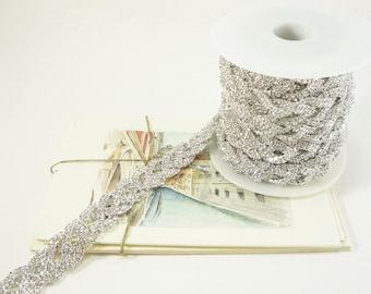 Strass argent noeud celtique garniture, garniture de cristal clair, garniture de mariée strass, chaîne strass, strass Applique, 20mm (1 Qté de pieds)