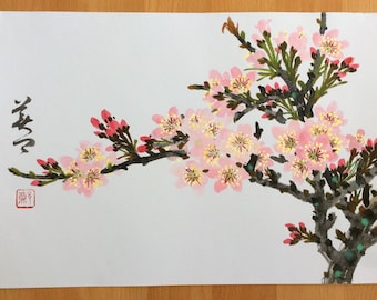 Original Chinese Painting - Blossam ( cherry Blossam )