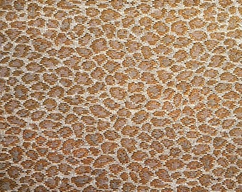 Cheetah Print Sand Heavy Upholstery Fabric, Fabric by the Yard Sewing Material
