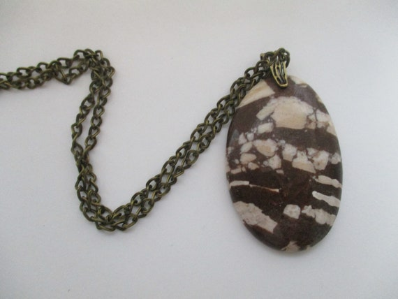 Zebra Jasper Pendant Necklace N626172