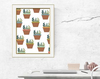 Succulent Digital art print
