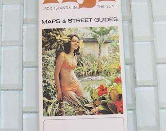 1970s Fiji Map Fold Out - Bikini Godess