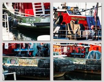 Portsmouth NH Tugs Tugboats, Nautical Home Decor, New Hampshire Art, Piscataqua River, Ships Boats Decor, Large Wall Art, Fine Art Prints