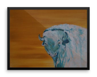 White Buffalo Framed poster