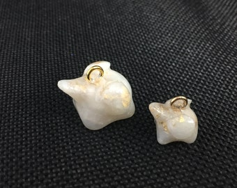 Mommy & Me Elephants - Pearl White/Gold (Charms ONLY)