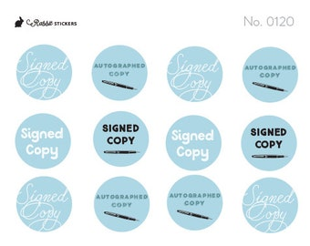 Signed Copy - 0120 Author Stickers, book stickers, library stickers, writer stickers, autographed copy