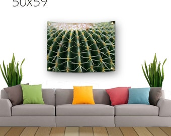 Cactus Tapestry-Green Cactus-Desert Wall Decor-Cactus Wall Decor-Fabric Wall Hanging-Green Wall Decor-Photo Tapestry-Outdoor Tapestry