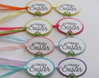 Easter Gift Tags, Happy Easter Favor Tags, Easter Tags, Oval Easter Tags,  Easter Gift Tag, Happy Easter Gift Tags, Happy Easter, Easter