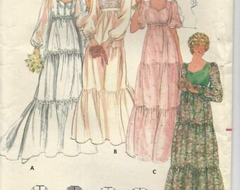 Butterick 5938 Miusses' Bridal Gown Vintage Pattern