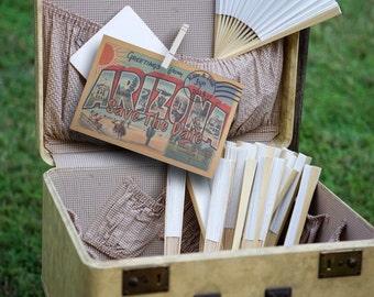 Vintage Travel Postcard Arizona Desert Save the Date Wedding Invitation