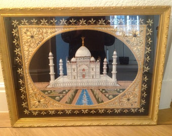 Embroidered image of the Taj Mahal