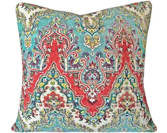 India Palace Sari Decorative Pillow Cover - Waverly - Both Sides - 10x20, 12x16, 12x20, 14x18, 14x24, 16x16, 18x18, 20x20, 22x22, 24x24