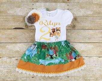Goldilocks Birthday Outfit, Goldilocks Tutu, Personalized Goldilocks Outfit, Goldilocks Dress, 3 Bears Birthday, Goldilocks Birthday Shirt