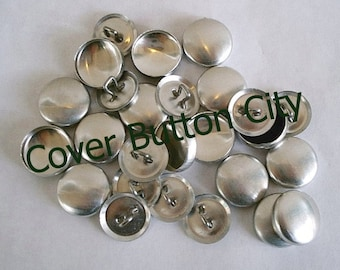100 Cover Buttons Size 24 (5/8 inch) -  Wire Backs
