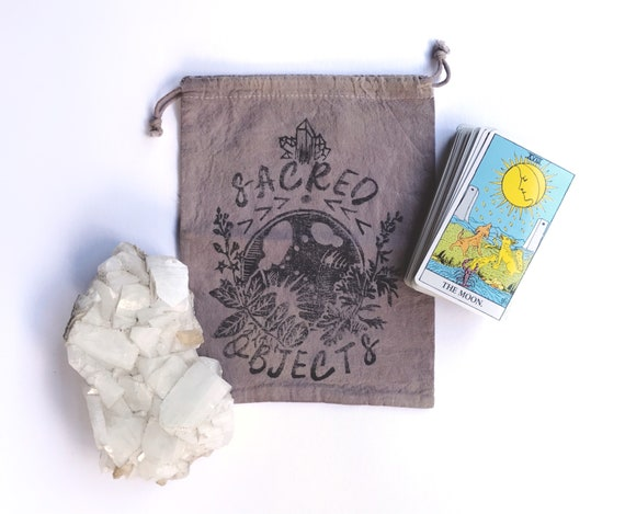 SACRED OBJECTS Block Printed Bag