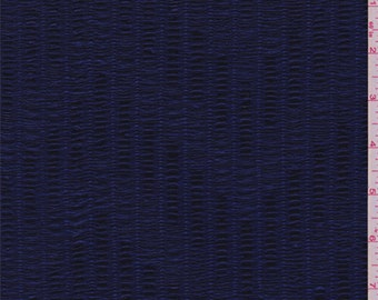 Violet Blue Textured Knit, Fabric By The Yard