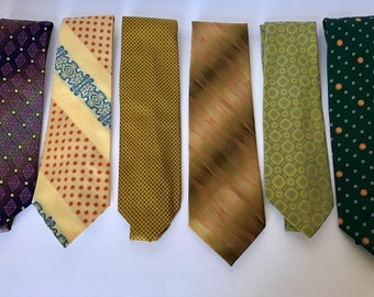 Vintage 60's and 70's neck ties