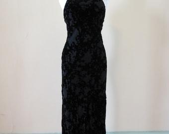 Vintage 1990's Floral Velvet Dress EXPRESS
