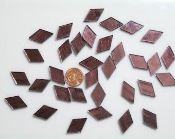 """Purple  Mirror Mosaic Tile """"Rose Blush"""""""
