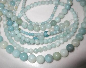 8mm Amazonite Round Beads - 16 inch strand