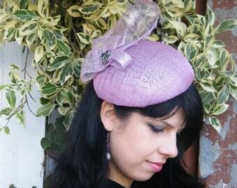 pink wedding hat - summer dress hat- pink fashion hat- pink fascinator UK- Derby hat- Ascot hat for women- ladies occasion hat