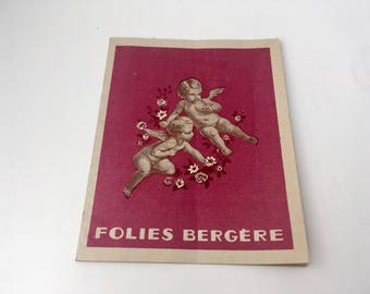 Vintage Folies Bergère Program/Folies Bergere/Vintage Paris Program/Vintage Paris Souvenir/Old Paris/Paris Ephemera/Collectible Ephemera